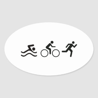 TRIATHLON LOGO OVAL STICKER
