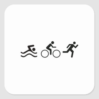 TRIATHLON LOGO SQUARE STICKER