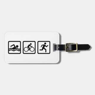 Triathlon Luggage Tag