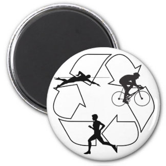 Triathlon Man Magnet