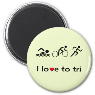 Triathlon motivating pictogram caption magnet