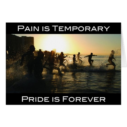 Triathlon - Pain is Temporary Card