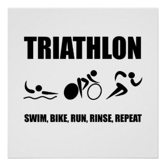 Triathlon Rinse Repeat Poster