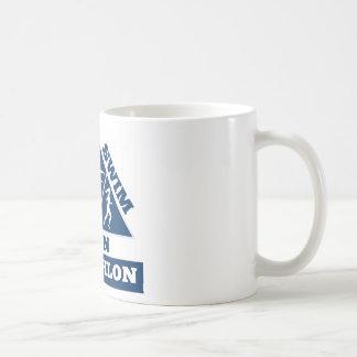triathlon run swim bike mug