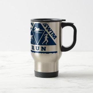 triathlon run swim bike travel mug