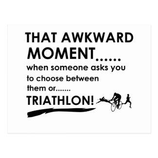 Triathlon Sports Designs Postcard