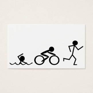 Triathlon Stick Figures Business Card
