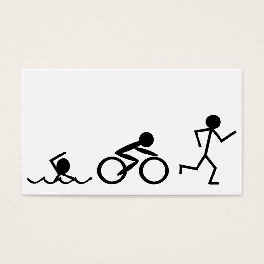 Triathlon Stick Figures Business Card