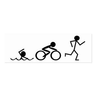 Triathlon Stick Figures Business Card Template