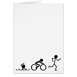 Triathlon Stick Figures Card