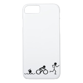 Triathlon Stick Figures iPhone 7 Case
