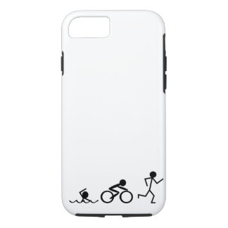 Triathlon Stick Figures iPhone 7 Case