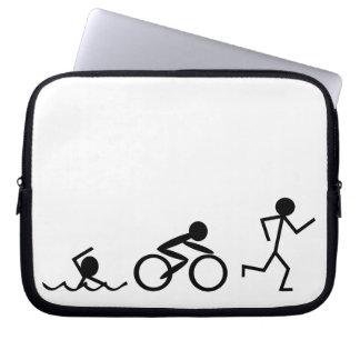 Triathlon Stick Figures Laptop Sleeve