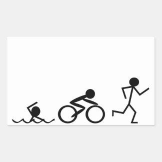 Triathlon Stick Figures Stickers