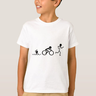 Triathlon Stick Figures T-Shirt