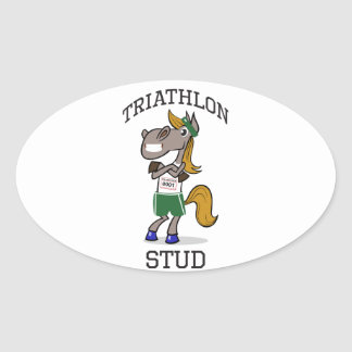 triathlon Stud Oval Sticker