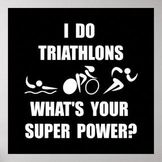Triathlon Super Power Poster