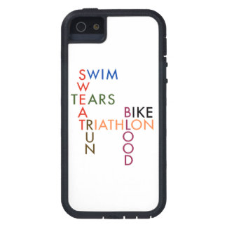 Triathlon Swim Bike Run Blood Sweat Tears Tough Xtreme iPhone 5 Case