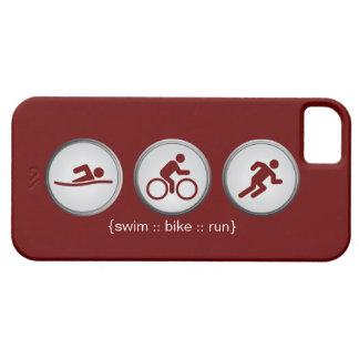 Triathlon Swim-Bike-Run iPhone 5 Case (maroon)