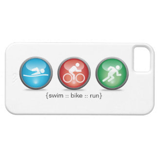 Triathlon Swim-Bike-Run iPhone 5 Case (white)