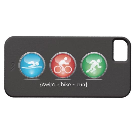 Triathlon Swim-Bike-Run iPhone 5 Case (white)