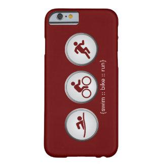 Triathlon Swim-Bike-Run iPhone 6 case (maroon) Barely There iPhone 6 Case