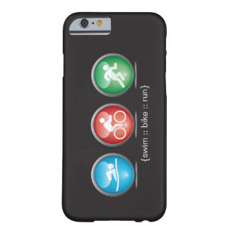 Triathlon Swim-Bike-Run iPhone 6 case (white) Barely There iPhone 6 Case