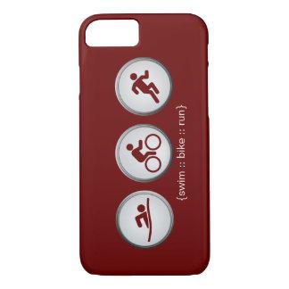 Triathlon Swim-Bike-Run iPhone 7 case (maroon)