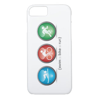 Triathlon Swim-Bike-Run iPhone 7 case (white)