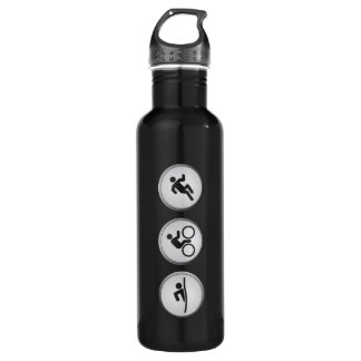 Triathlon SWIM-CYCLE-RUN (black) 710 Ml Water Bottle