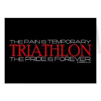 Triathlon – The Pride is Forever Card