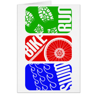 Triathlon TRI Color Blocks Card