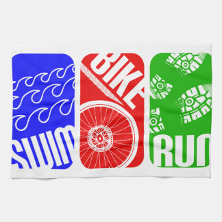 Triathlon TRI Color Blocks Tea Towels