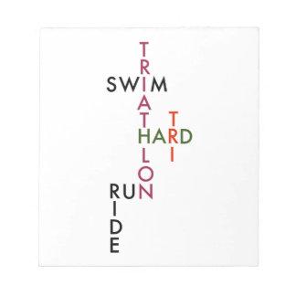 Triathlon tri hard notepad