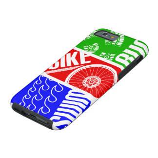 Triathlon TRI Swim Bike Run Tough iPhone 6 Case