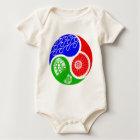 Triathlon TRI Yin Yang Baby Bodysuit