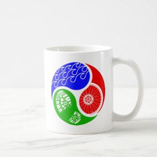 Triathlon TRI Yin Yang Coffee Mug