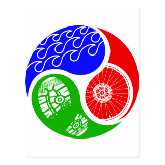 Triathlon TRI Yin Yang Postcards