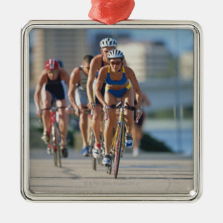 Triathloners Cycling 2 Christmas Ornament
