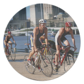 Triathloners Cycling Dinner Plate