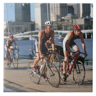 Triathloners Cycling Large Square Tile