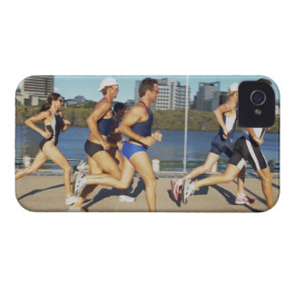 Triathloners Running 2 iPhone 4 Case