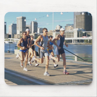 Triathloners Running 3 Mouse Pad