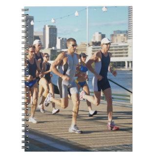 Triathloners Running 3 Notebook
