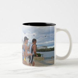 Triathloners Running 4 Two-Tone Coffee Mug