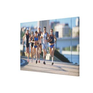 Triathloners Running 5 Canvas Print