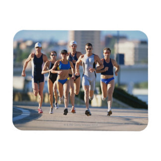 Triathloners Running 5 Magnet