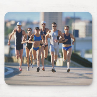 Triathloners Running 5 Mouse Pad