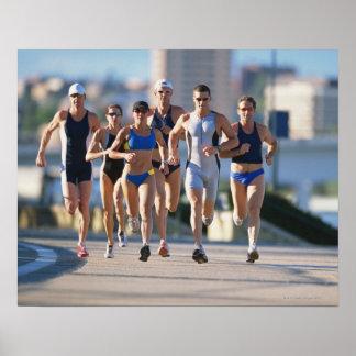 Triathloners Running 5 Poster