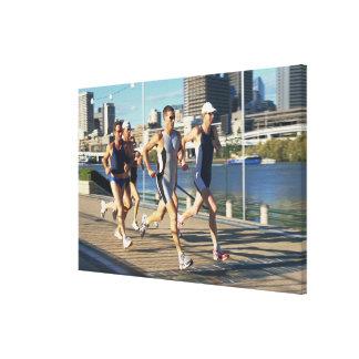 Triathloners Running Canvas Print